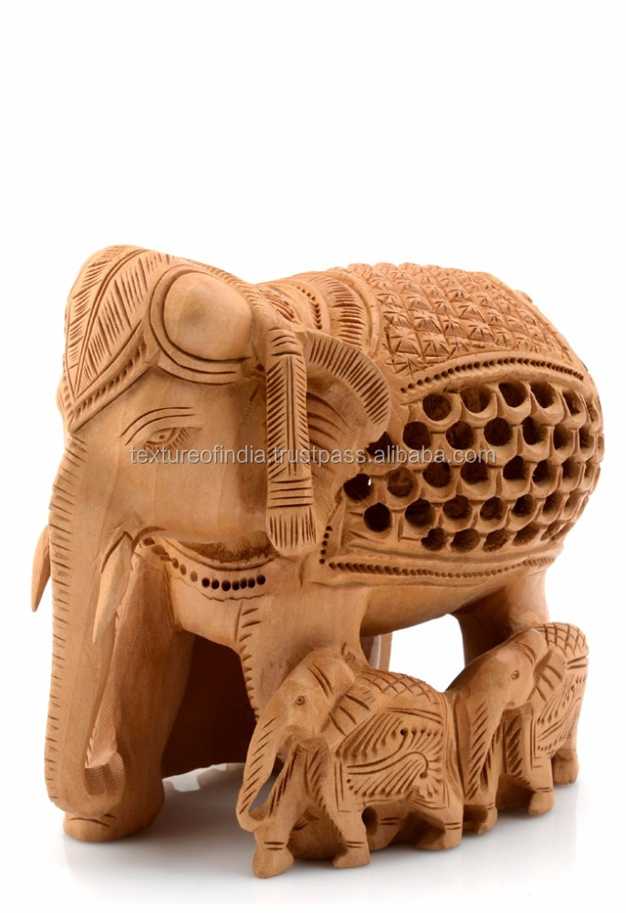 High Quality Decorative Wooden Christmas Crafts Elephant Statue
