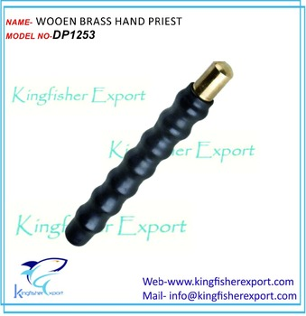 WOOEN BRASS HAND PRIEST