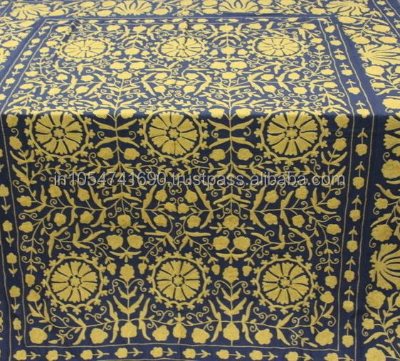 Suzani bedspread Bohemian Bedding Indian Bed cover Cotton Bed sheet Manufacturer & Wholeseler
