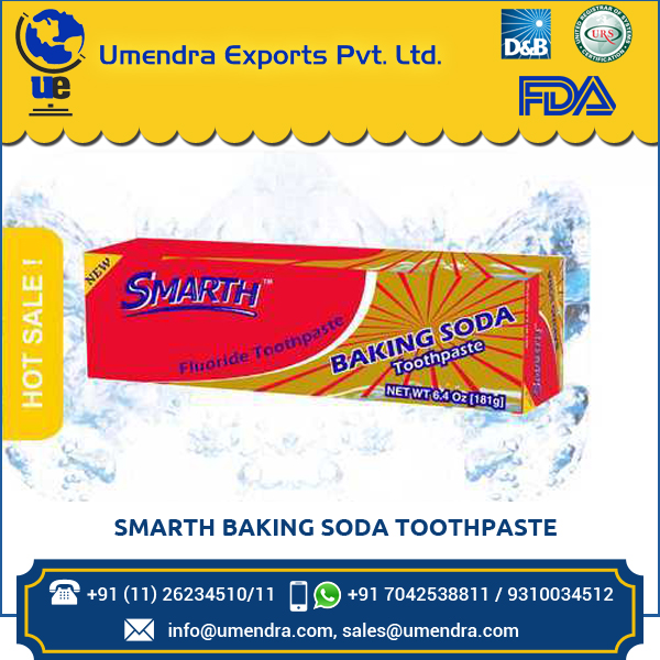 Best Made in India Toothpaste Baking Soda with Sodium Biacarbonate to prevent teeth from Dental Cavity