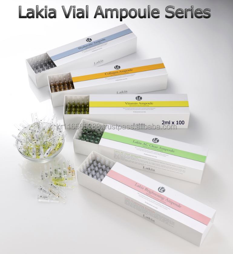 Best Selling Lakia Ampoule Collagen, Hyaluronic, Vitamin, AC Clear, Brightening Made in KOREA