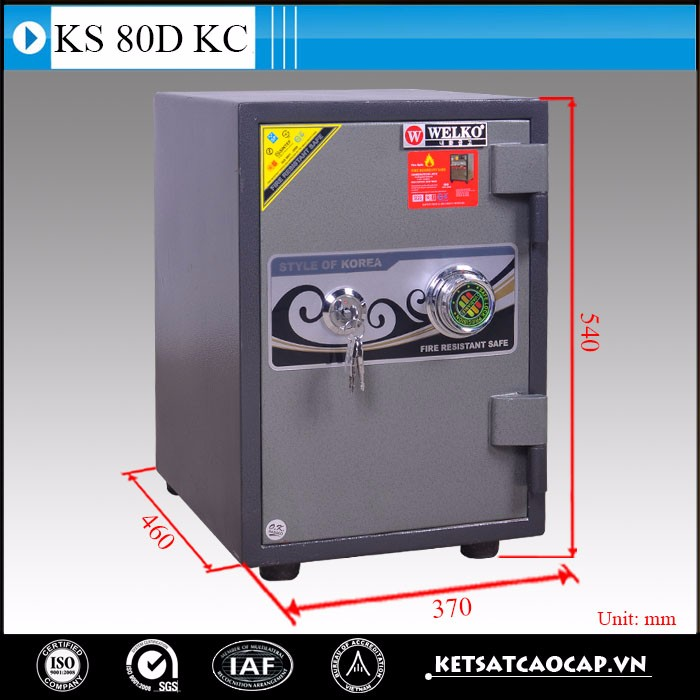office code change steel vintage safes - KS 80 DK