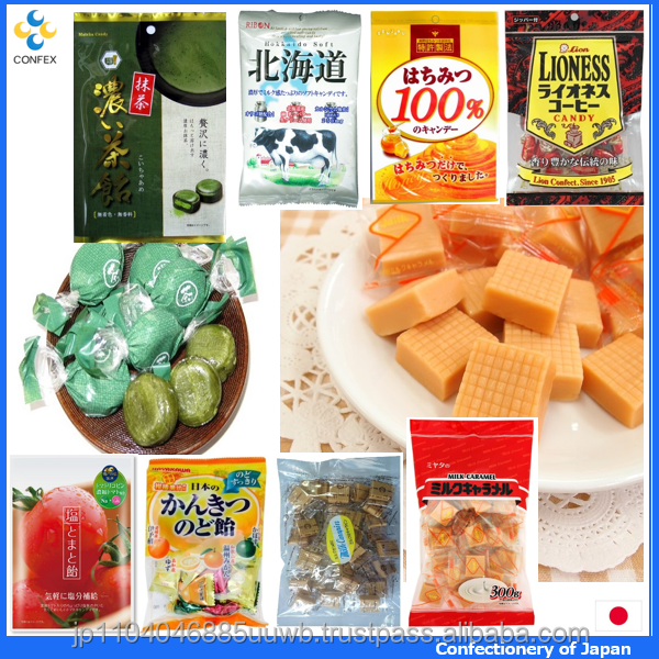 Hot-selling and Sweet tasting japanese hard candy confectionery with many products made in Japan