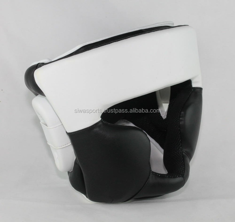 black and white boxing head guard/boxing safety gears