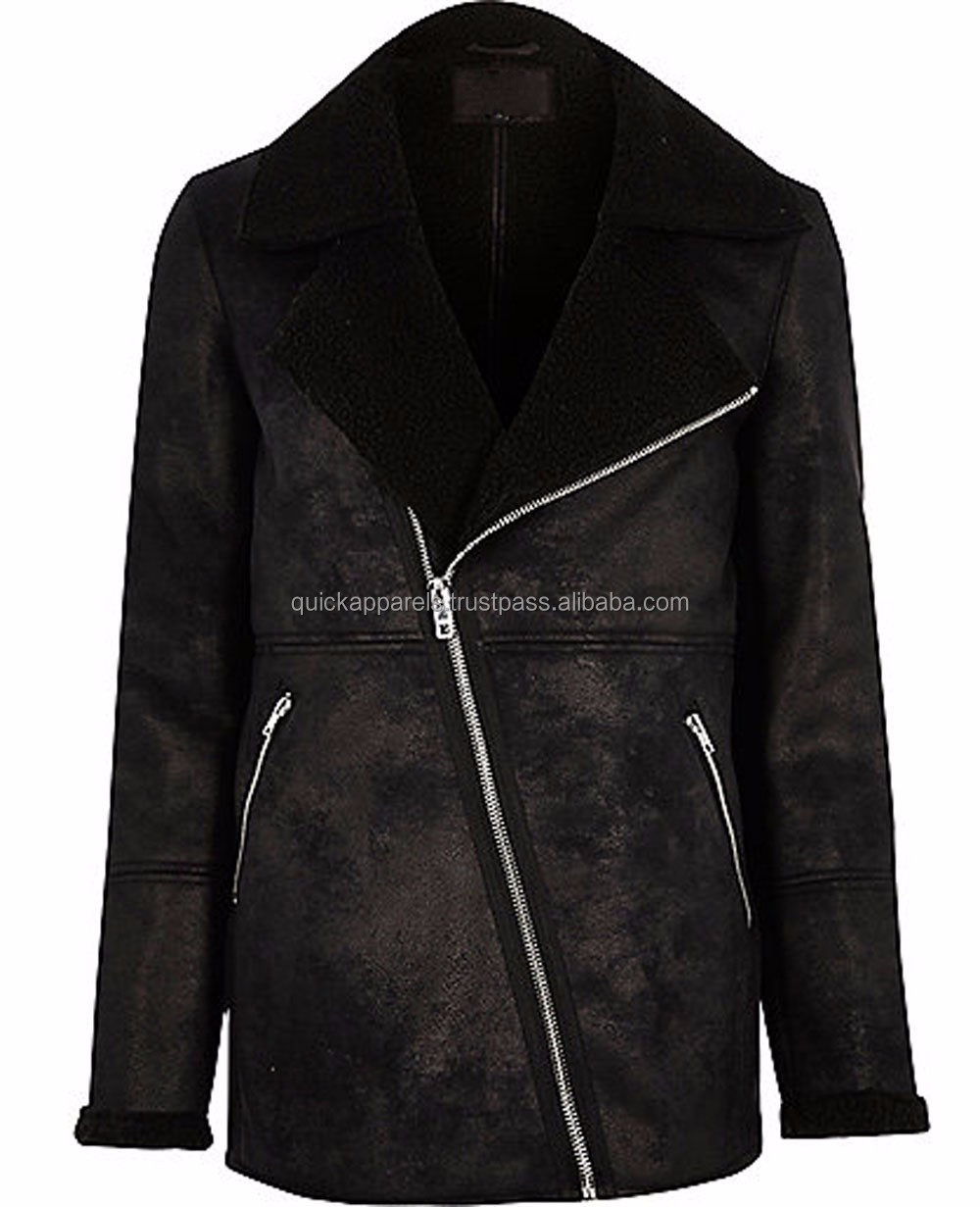 Fashion leather bomber jacket for men custom made