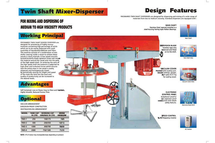 High Speed twin Shaft Disperser for Paint
