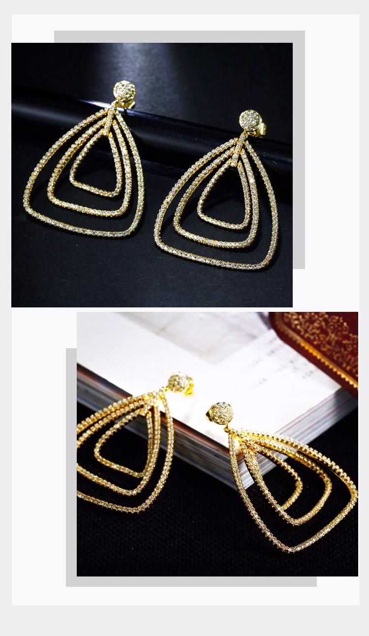 Triangle shape earrings