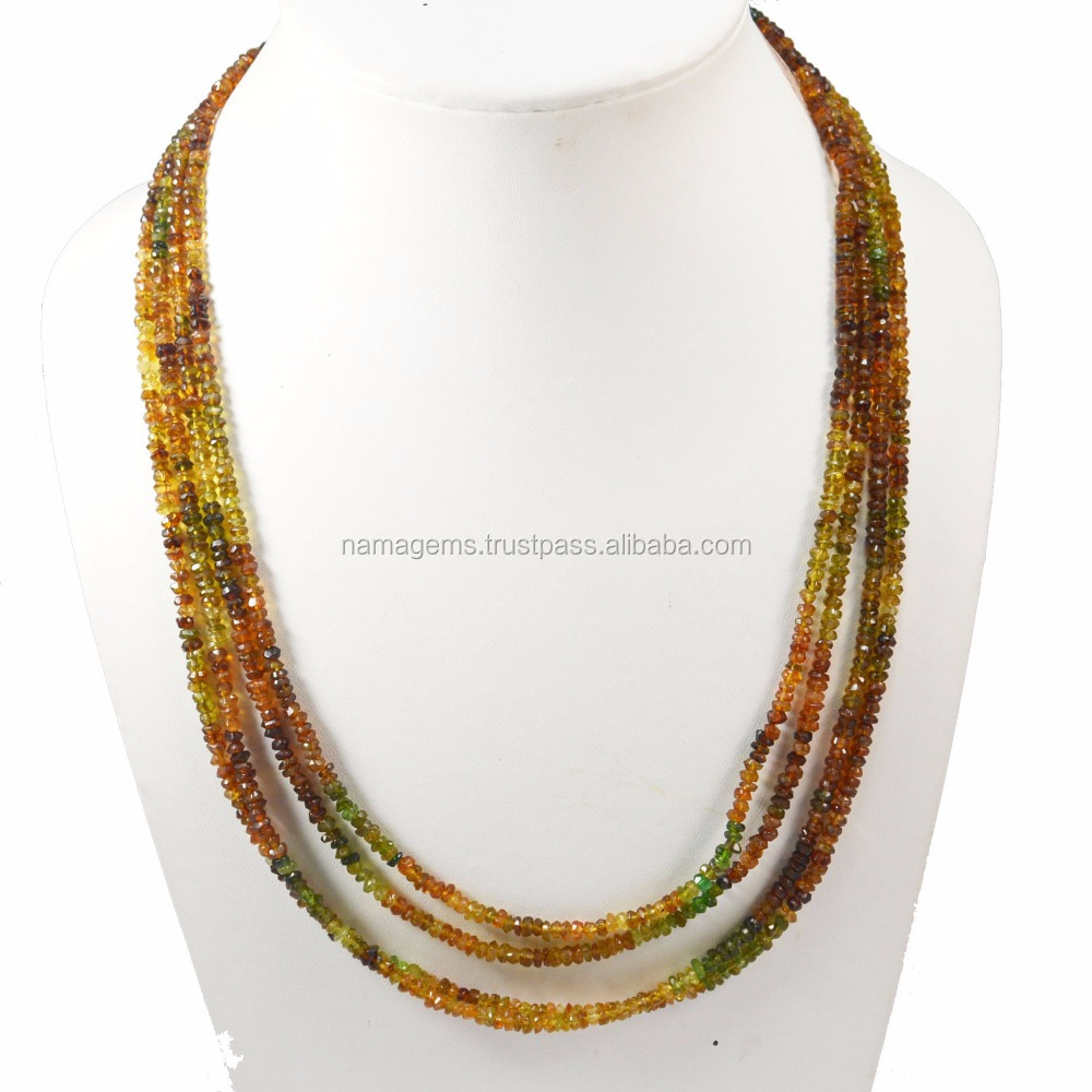 Full Length, Semi Precious Stone Petrol Tourmaline Micro Faceted Loose Beads Jewelry Necklace