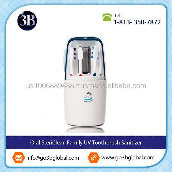 Clinically Tested Oral Toothbrush Sanitizer for Home Use