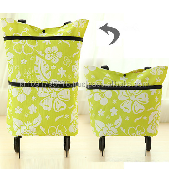Competitive Price for foldable shopping bag with wheel on SALE