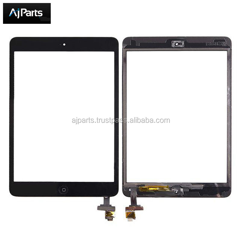 Replacement For iPad Mini 1 ipad Mini 2 Replacement Parts Touch Panel Screen Digitizer Glass +IC Connector + Home Button Flex