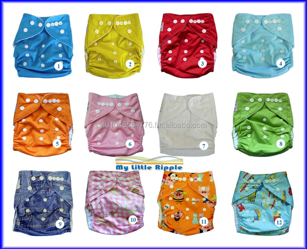 Washable waterproof baby nappies diapers one size fits all