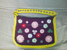 Crochet shoulder bag by wool fibre