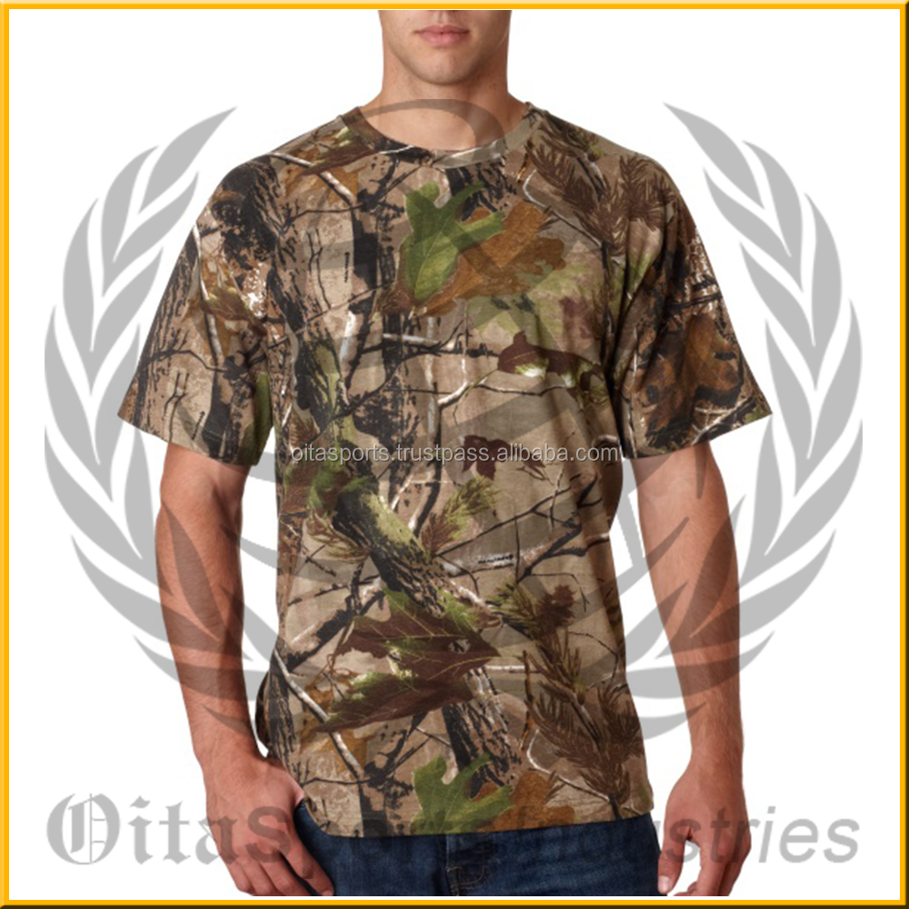 Europe Style Custom Mens T Shirts, Boyfriend Max Hunting Camouflage Clothing,Hunting Camo T Shirt