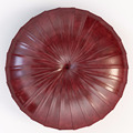 Leather ottoman large size