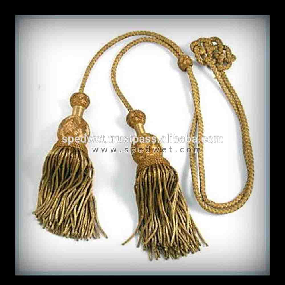 Gold bullion fringe french decorative tassels