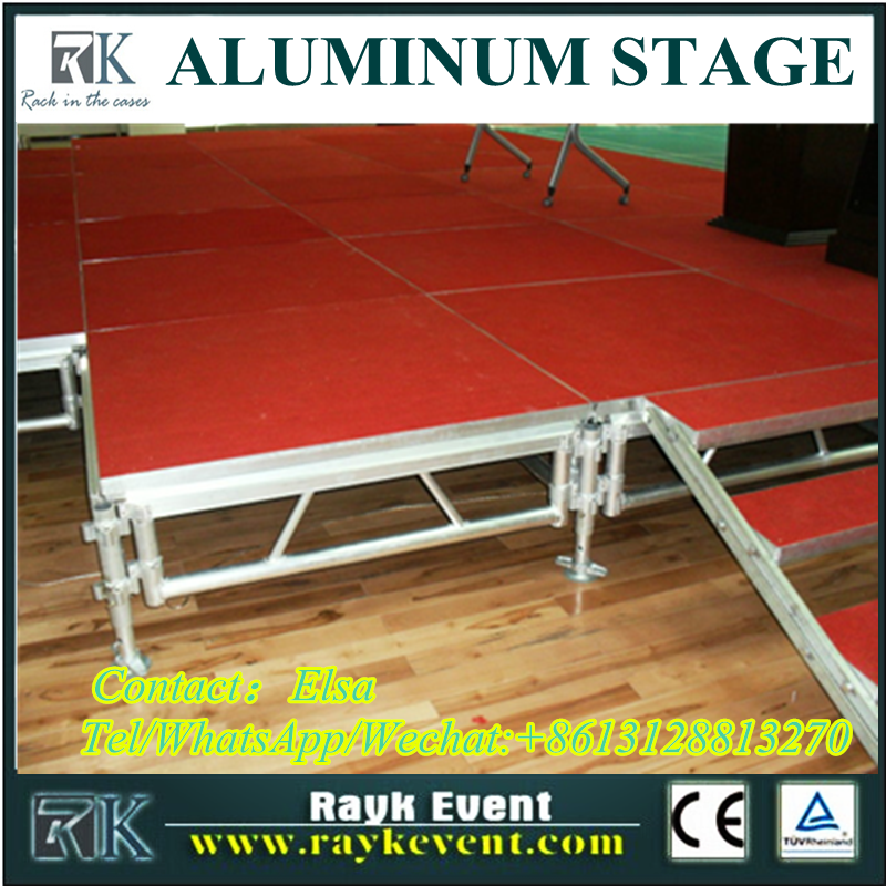 High quality portable stage legs cheap portable stage stage truss