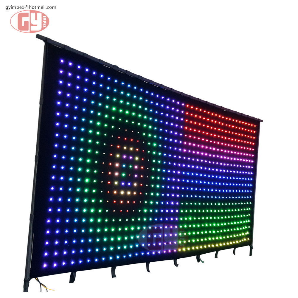 p9 black stage decoration background screen video curtains