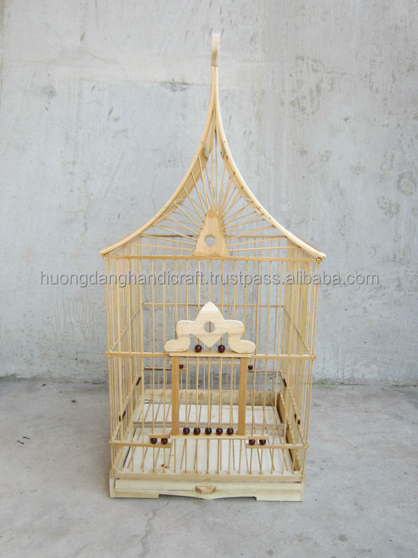 Cute and Thin Bird Cage for Pet with House Shape/ Bamboo Bird Cage