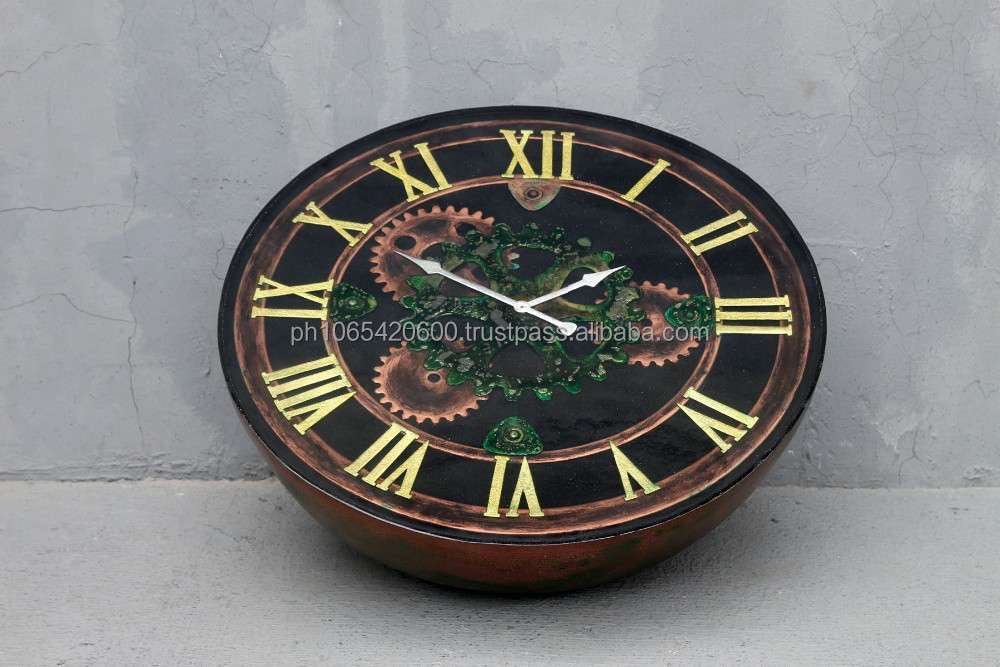 Vintage Clock Center Table