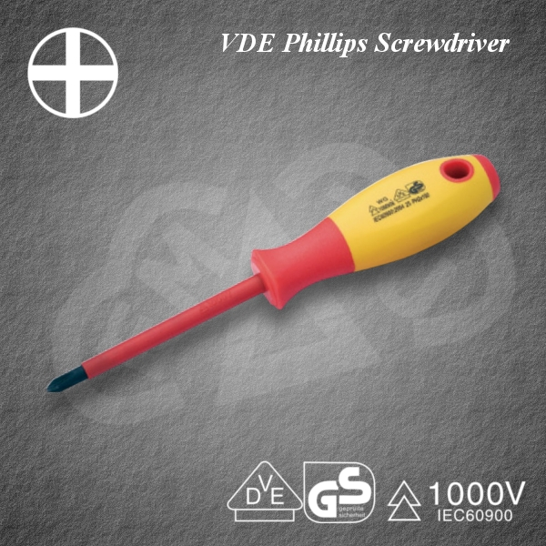 Powerful VDE Phillips Screwdriver Insulated tool for industrial use