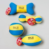 DOG TOY AQUA FLOTABLE W/SQKR BLUE/YELLOW 4 STYLES IN PDQ #66745PN