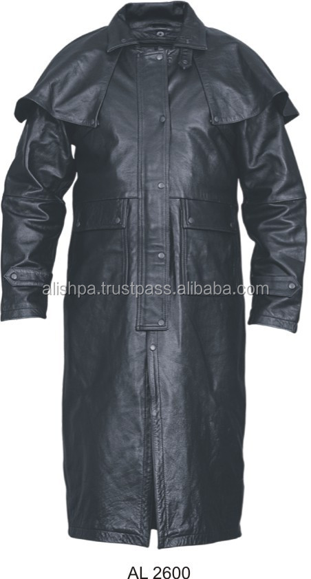 Long Leather Coat for Men Leather Duster / AI786153