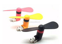 2 in 1 Micro USB Mobile Phone Fan Portable Flexible Mini USB Cooling Fans for Samsung Xiao Mi Android Smartphones