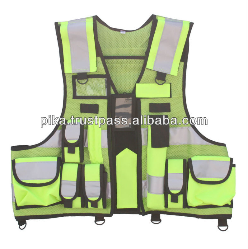 High Visibility Lime Yellow Florescent Security rescue response Vest