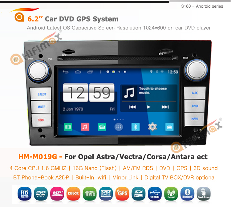 Hifimax Android 4.4.4 car dvd gps player for OPEL MERIVA(2006-2010) car radio dvd gps navigation system