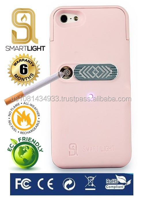 Pink case for Samsung S6 with ecological cigarette lighter
