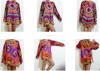 HIPPIE BOHO thai handmade tie dye festival chic tunic top shirt blouse long sleeves