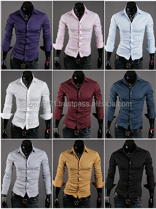 Wholesale men business suits dress shirts with custom ties - cusomized shirt/tailored shirts for men/wash and wear