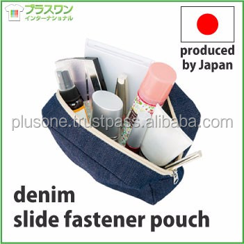 Premium and Original makeup case denim slide fastener pouch for multipurpose(sale, gift) OEM available