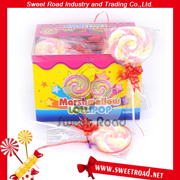 20g Big Cotton Lollipop Marshmallow Candy