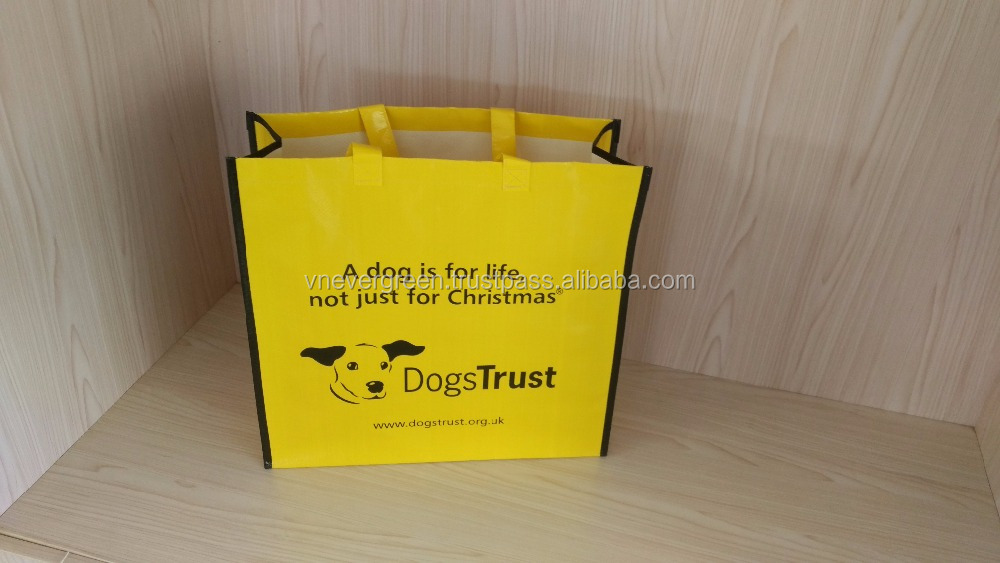 US And European Main Supermarket Shopping Bag Vendor PP Shopper For Life Made In Vietnam