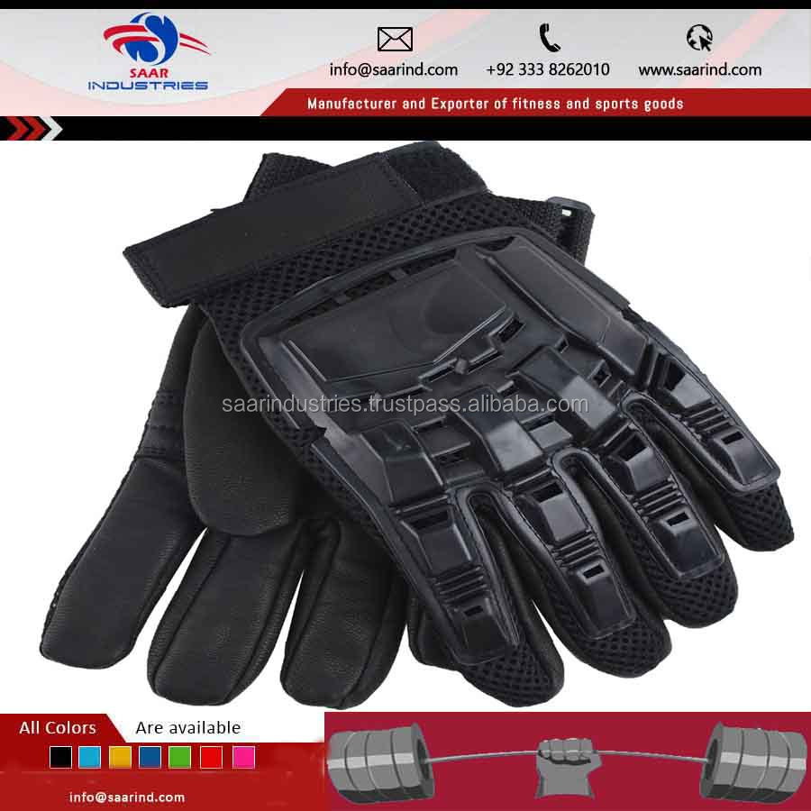 black leather and Kevlar police and security tactical entry gloves