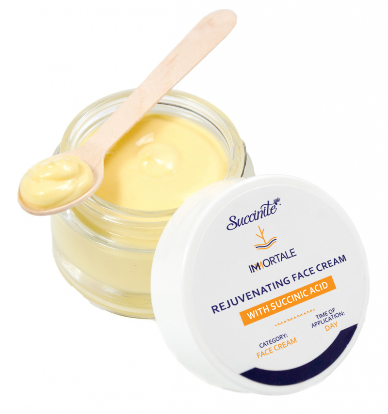 Rejuvenating face cream with succinic acid