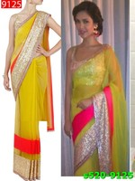 Indian Bollywood Net And Mati Jari Sarees