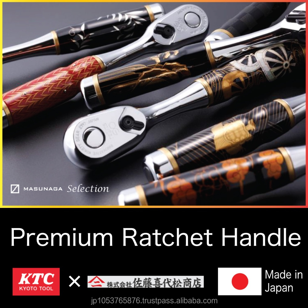Beautiful and Traditional art crafts URUSHI Laquer Ratchet Wrench with smooth handling made in Japan