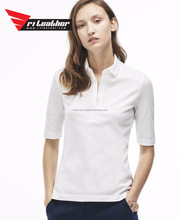 OEM wholesale summer lady slightly rounded Collared Sleeveless Crepe classic polo women t shirt