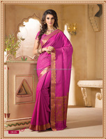 Kanchipuram Silk Hot Pink Saree