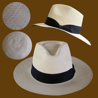 Genuine Handmade Panama Hat. Fedora Style. Normal quality