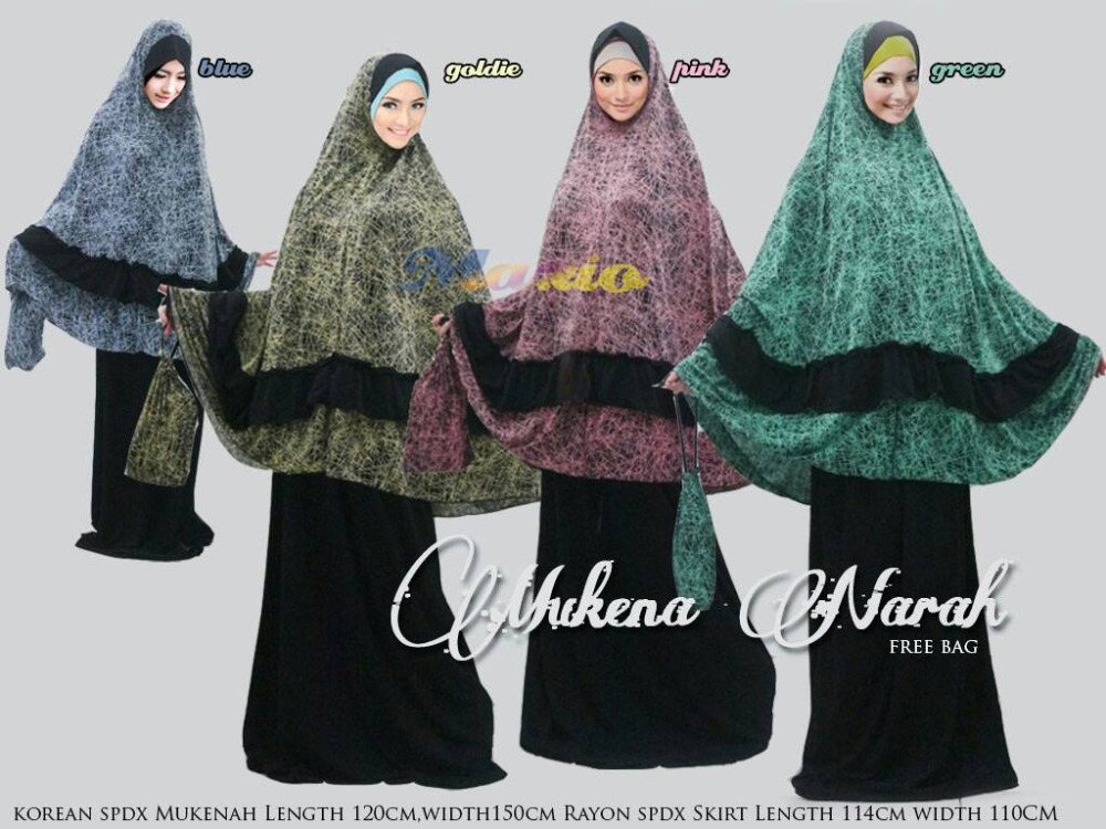 Cheap jumbo cotton telekung (Prayer dress)