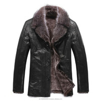 Leather Fur Coat Men's Casual Designer Goatskin Leather Lamb Fur Coat