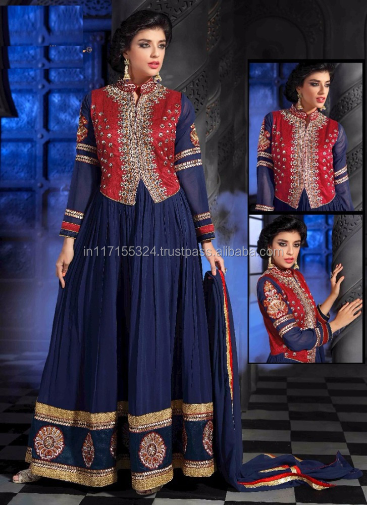 Indian women latest designs anarkali salwar kameez suits-anarkali suits market