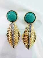 Turquoise style blue earrings
