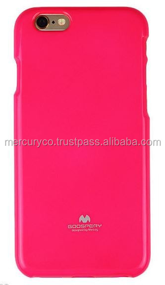 Mercury Fluorescent Jelly clean tpu soft case (Hot Pink)