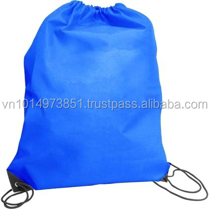 Bright Blue Polyester Folding Shopping Bag