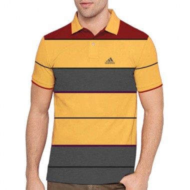 Ribbed Collar Polo shirts
